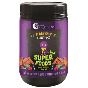 NutraOrganics Super Foods for Kidz Berry Choc Chunk 150g