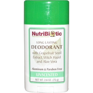 Nutribiotic Long Lasting Unscented Deodorant 75g