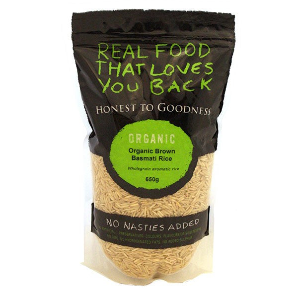 Honest To Goodness Organic Brown Basmati Rice 650g