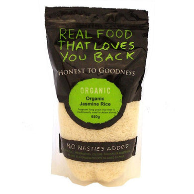 Honest To Goodness Organic Jasmine Rice 650g