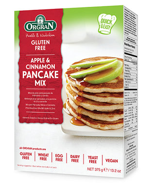 Orgran Gluten Free Apple & Cinnamon Pancake Mix 375g