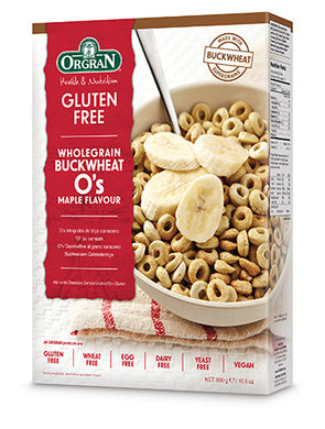 Orgran Buckwheat O's Cereal Maple 300g