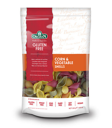 Orgran Gluten Free Pasta Shells Corn & Vegetable 250g