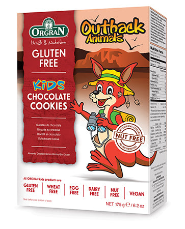 Orgran Gluten Free Outback Animal Cookies Chocolate  175g