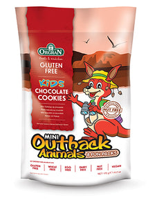 Orgran Gluten Free Outback Animal Cookies Chocolate  8x 22g