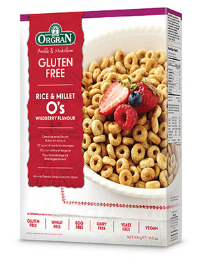 Orgran Rice & Millet O's Cereal Wildberry Flavour 300g