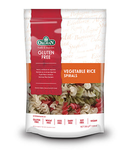 Orgran Gluten Free Pasta Spirals Rice & Vegetable 250g