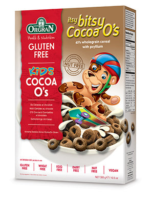 Orgran Itsy Bitsy Cocoa O's Cereal Gluten Free 300g