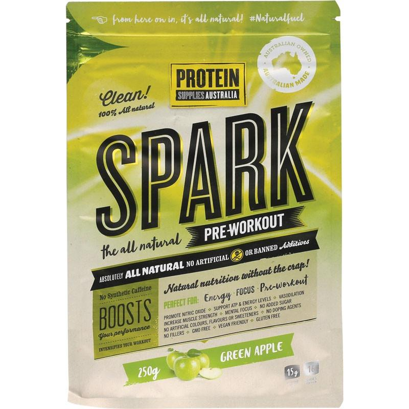 Protein Supplies Australia Spark Pre-workout Green Apple 250g