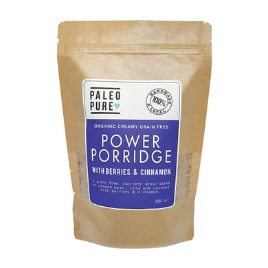 Paleo Pure Organic Creamy Grain Free Power Porridge with Berries & Cinnamon 300g