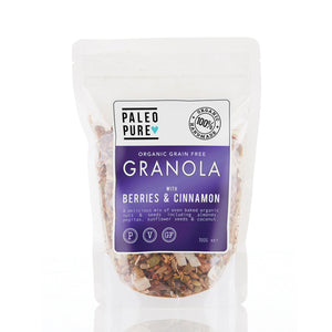 Paleo Pure Organic Grain Free Granola with Berries & Cinnamon 300g