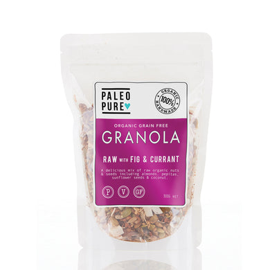 Paleo Pure Organic Grain Free Granola Raw with Fig & Currant 300g