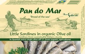 Pan do Mar Little Sardines in Organic Olive Oil 120g