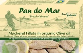 Pan do Mar Mackerel Fillets in Organic Olive Oil 120g