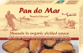 Pan do Mar Organic Mussels in Pickled Sauce 115g