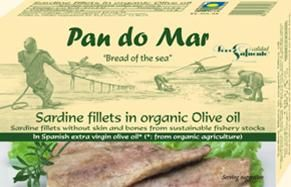 Pan do Mar Sardine Fillets in Organic Olive Oil 120g