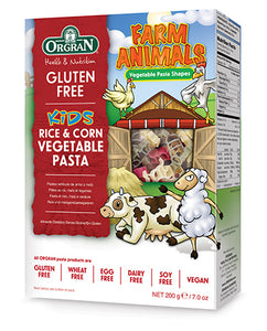 Orgran Gluten Free Pasta Rice & Corn Vege Animal Shapes 200g