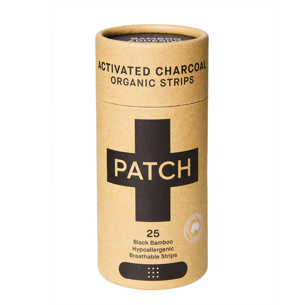 Patch Bamboo Organic Strips Activated Charcoal Black x 25 Pack
