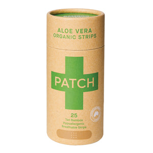 Patch Bamboo Organic Strips Aloe Vera Tan X 25 Pack