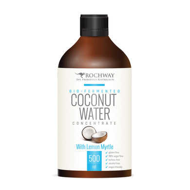Rochway Organic Coconut Water with Lemon Myrtle Bio Fermented Concentrate 500ml