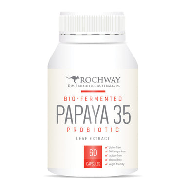 Rochway Papaya 35 Probiotic with Multiply Plus 500mg 60 Capsules