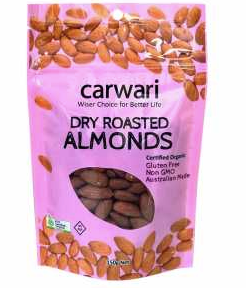 Carwari Organic Dry Roasted Almonds 150g
