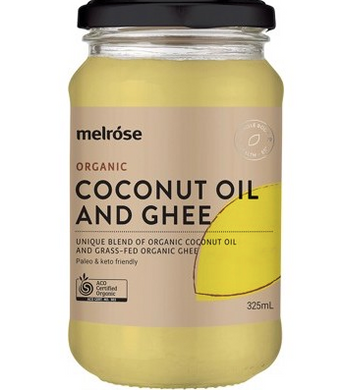 Melrose Grass Fed Ghee & Coconut Blend Organic 325ml