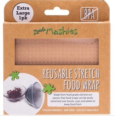 Little Mashies Reusable Stretch Silicone Food Wrap  Pack Of 1 - XLarge 30cm x 30cm