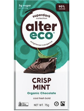 ALTER ECO Chocolate (Organic) Dark Crisp Mint - 75g
