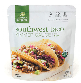 Simply Organic Southwest Taco Simmer Sauce 227g