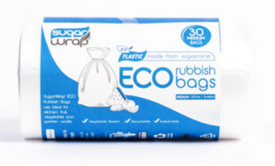 Sugarwrap Eco Rubbish Bags Made from Sugarcane - Medium 27L