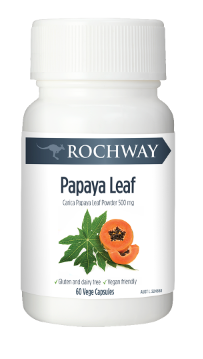 Rochway Organic Papaya Leaf Extract 60 Capsules