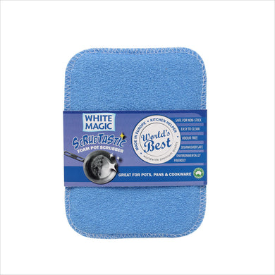 White Magic Scrubtastic Foam Pot Scrubber 1Pk