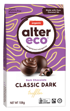 Alter Eco Organic Dark Chocolate Black Truffles 108g