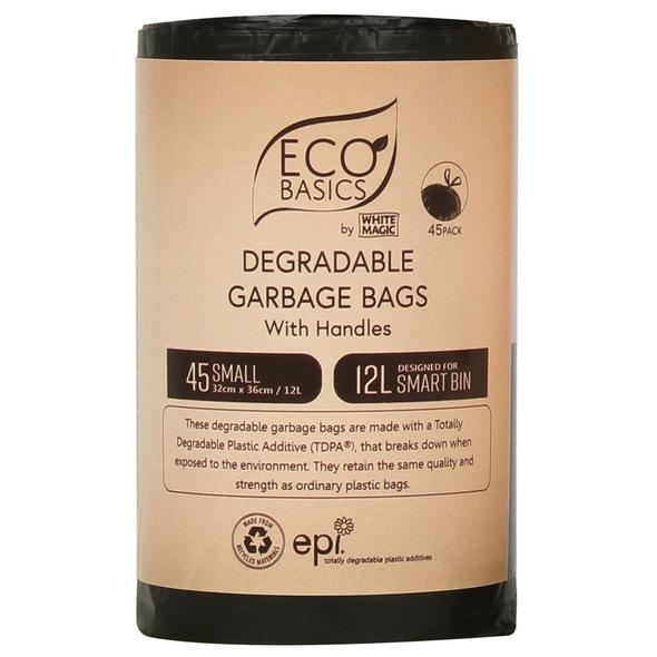 White Magic Eco Basics Garbage Bags Small 45 x 12L
