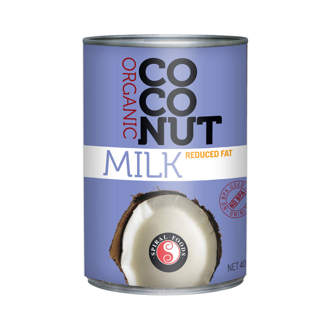 Spiral Foods Organic Lite Coconut Milk 400ml (BPA Free Can)