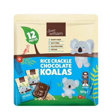 Sweet William Rice Crackle Chocolate Koalas 12x15g