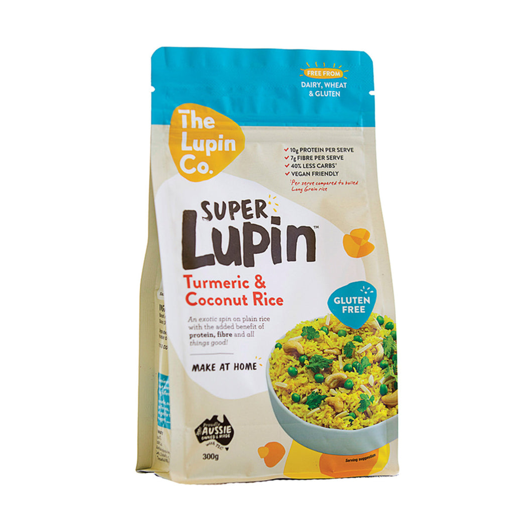 The Lupin Co. Super Lupin Turmeric and Coconut Rice 300g