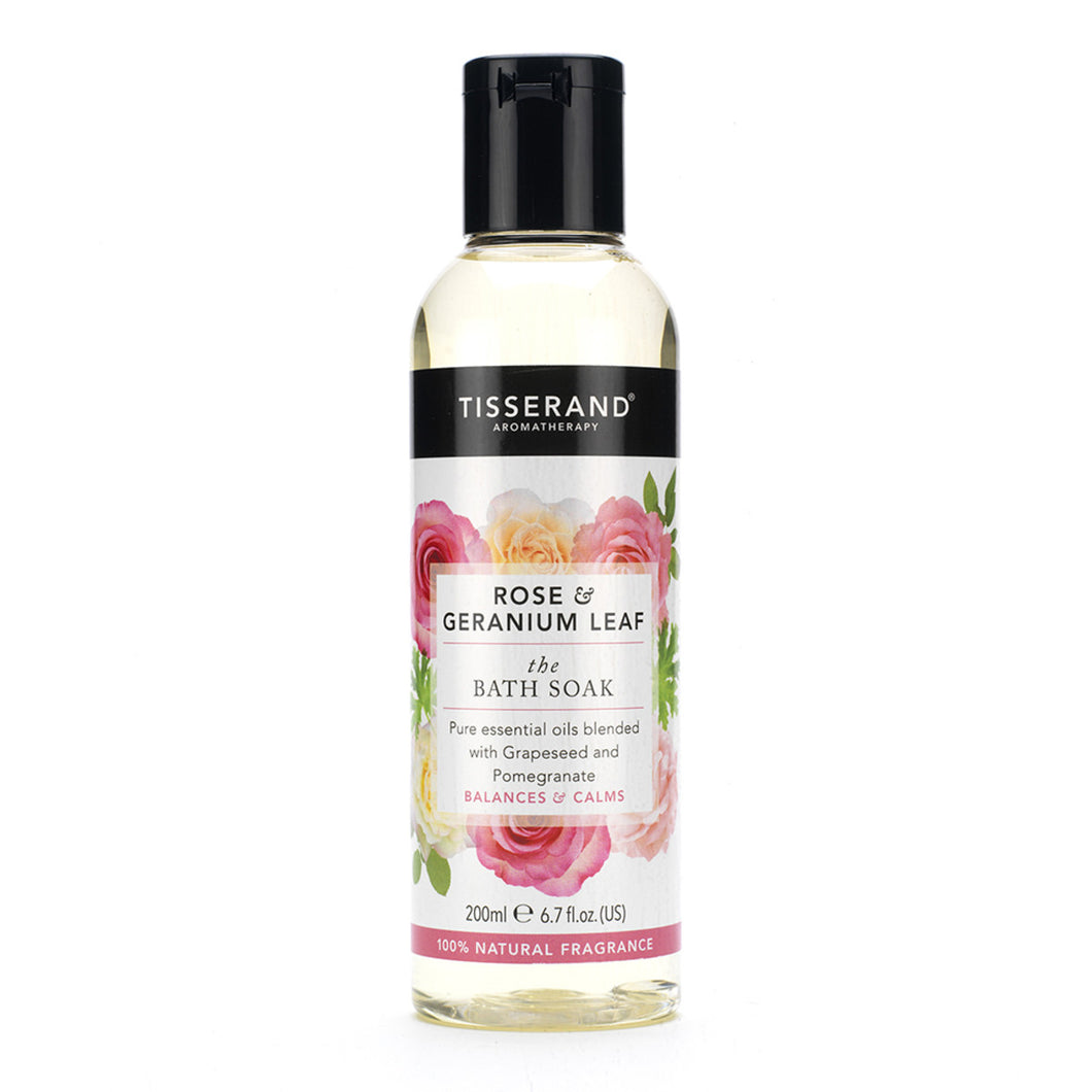Tisserand Bath Soak Rose & Geranium Leaf 200ml
