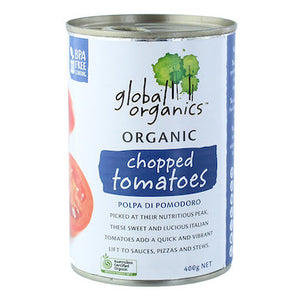 Global Organics Chopped Tomatotes 400g