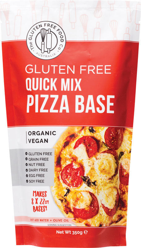 THE GLUTEN FREE FOOD CO. Quick Pizza Base Mix - 350g