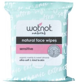 Wotnot Natural Face Wipes For Sensitive Skin x 25