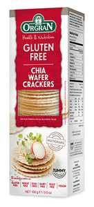 Orgran Gluten Free Crackers Chia Wafer 100g