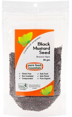 Pure Foods Essentials Spices - Black Mustard Seed 80g