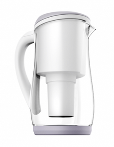 Ecobud Gentoo Glass Jug Grey and White 1.5L