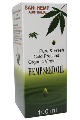 Sani Hemp Australia Hemp Seed Oil 100ml