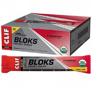 Clif Bar Shot Bloks Strawberry Energy Chews - 18x60g