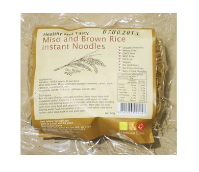 Nutritionist Choice Noodles Instant Brown Rice Miso Flavour 60g