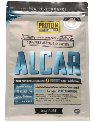 Protein Supplies Australia Acetyl L-Carnitine 100% Pure Powder 200g