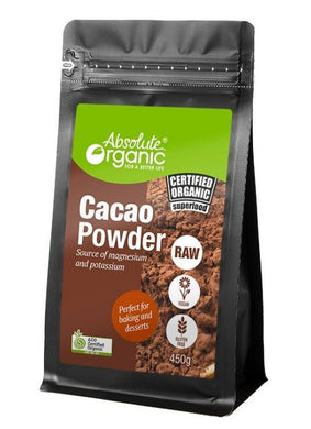 Absolute Organic Raw Cacao Powder 450g